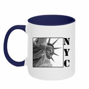 Kubek dwukolorowy NYC - PrintSalon
