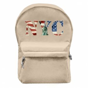 Backpack with front pocket NYC