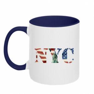 Two-toned mug NYC