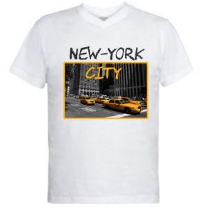 Męska koszulka V-neck NYC