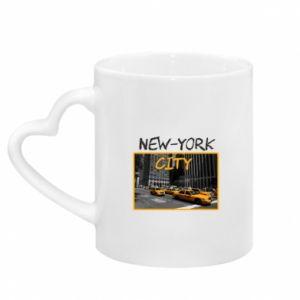 Kubek z uchwytem w kształcie serca NYC