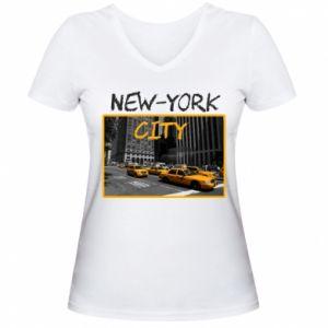 Women's V-neck t-shirt NYC