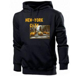 Męska bluza z kapturem NYC - PrintSalon