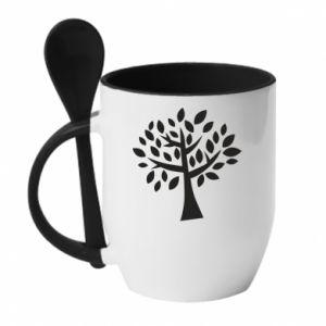Kubek z ceramiczną łyżeczką Oak