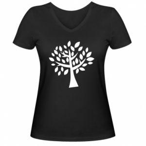 Damska koszulka V-neck Oak