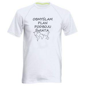 Men's sports t-shirt I am thinking of a plan of conquest - PrintSalon