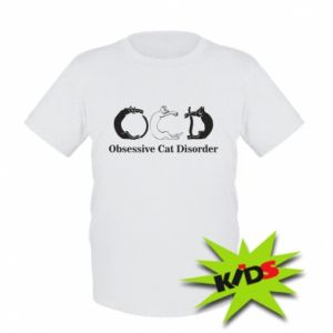 Dziecięcy T-shirt Obsessive cat disorder