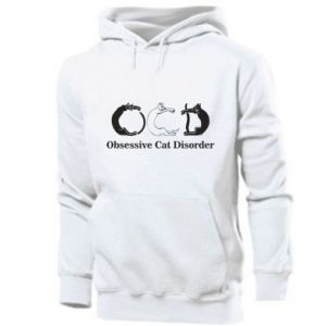 Męska bluza z kapturem Obsessive cat disorder