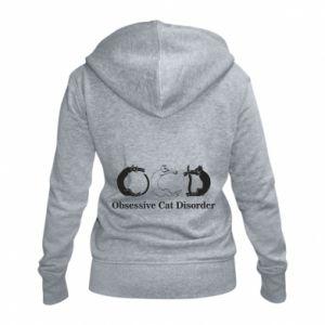 Damska bluza na zamek Obsessive cat disorder