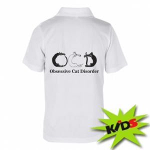 Dziecięca koszulka polo Obsessive cat disorder