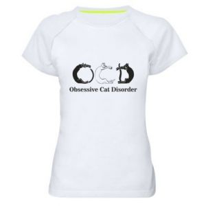 Damska koszulka sportowa Obsessive cat disorder