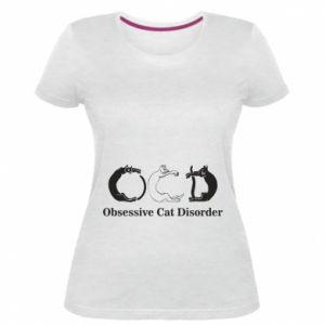 Damska premium koszulka Obsessive cat disorder