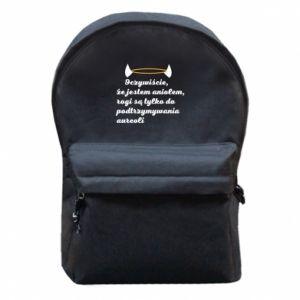 Plecak z przednią kieszenią Oczywiście, że jestem aniołem