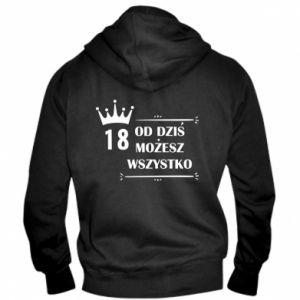 Men's zip up hoodie Od dziś wszystko możliwe - PrintSalon