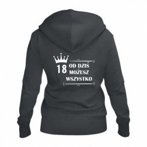 Women's zip up hoodies Od dziś wszystko możliwe - PrintSalon