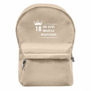 Plecak z przednią kieszenią Od dziś wszystko możliwe