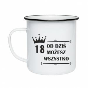 Enameled mug Od dziś wszystko możliwe