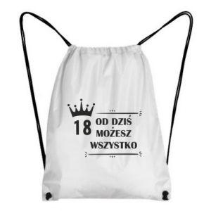 Plecak-worek Od dziś wszystko możliwe