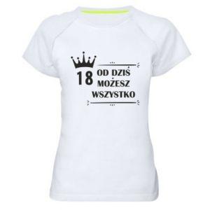 Damska koszulka sportowa Od dziś wszystko możliwe
