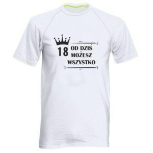 Męska koszulka sportowa Od dziś wszystko możliwe