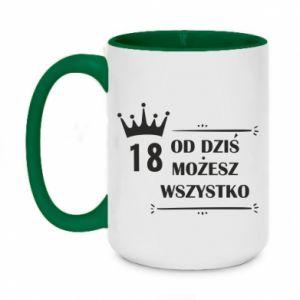Two-toned mug 450ml Od dziś wszystko możliwe