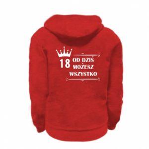 Kid's zipped hoodie % print% Od dziś wszystko możliwe