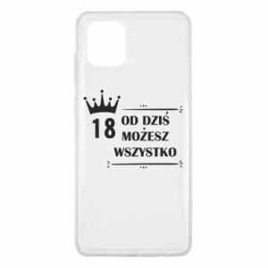 Samsung Note 10 Lite Case Od dziś wszystko możliwe