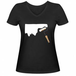 Damska koszulka V-neck Odśwież! - PrintSalon
