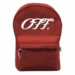 Plecak z przednią kieszenią Off.