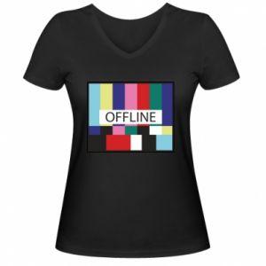 Women's V-neck t-shirt Offline