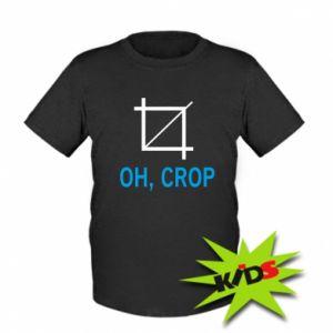 Dziecięcy T-shirt Oh, crop