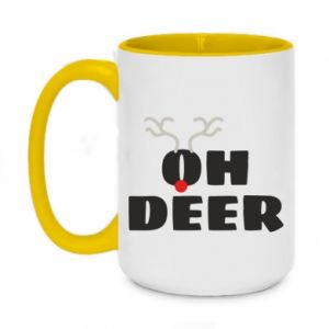 Two-toned mug 450ml Oh deer