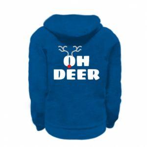 Kid's zipped hoodie % print% Oh deer