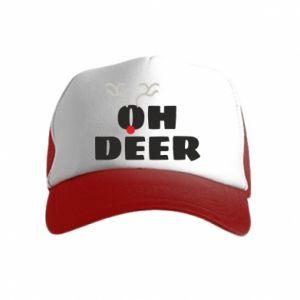 Kid's Trucker Hat Oh deer