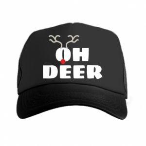 Trucker hat Oh deer