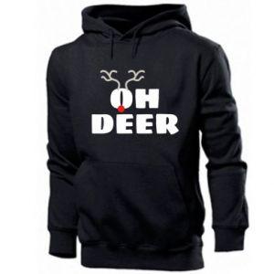 Men's hoodie Oh deer