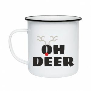 Enameled mug Oh deer