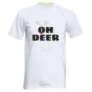 Men's sports t-shirt Oh deer