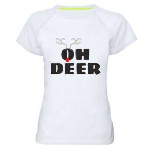 Women's sports t-shirt Oh deer