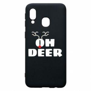 Samsung A40 Case Oh deer