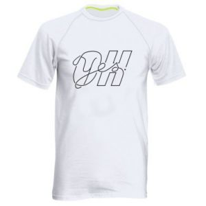 Men's sports t-shirt Oh yes