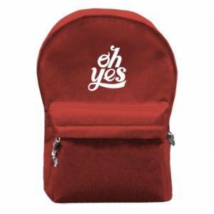 Plecak z przednią kieszenią Oh, yes