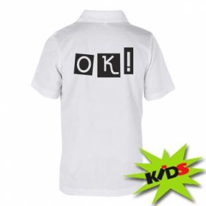 Koszulka polo dziecięca Ok! Color