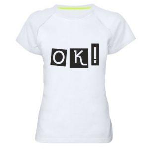Koszulka sportowa damska Ok! Color