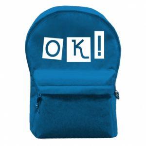 Plecak z przednią kieszenią Ok! Color