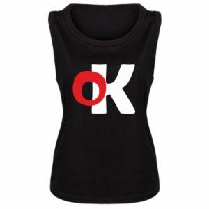 Damska koszulka bez rękawów Ok