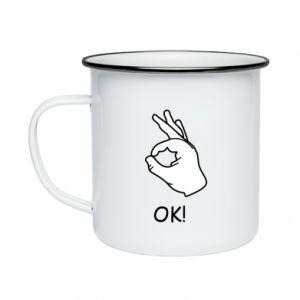 Enameled mug OK!