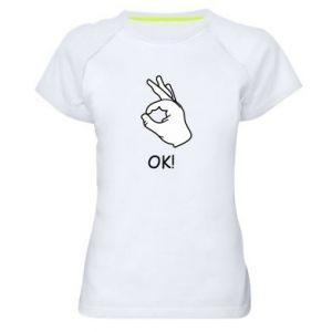 Damska koszulka sportowa OK! - PrintSalon