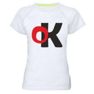 Damska koszulka sportowa Ok