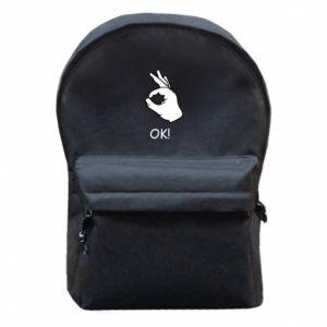 Plecak z przednią kieszenią OK! - PrintSalon